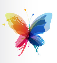 Colorful Butterfly Created Fro...