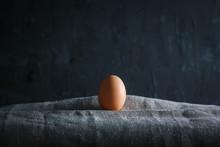 Egg Dark Background Moody Food