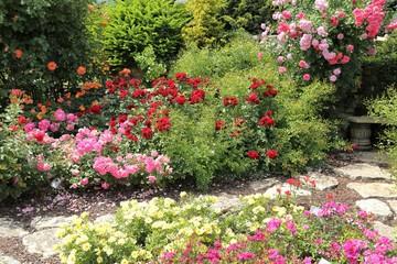 Obraz na Szkle Róże Roses garden.