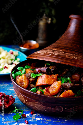 lamb squash and apricot tagine.style rustic