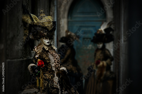 Beautiful costumes at the Carnival in Venice