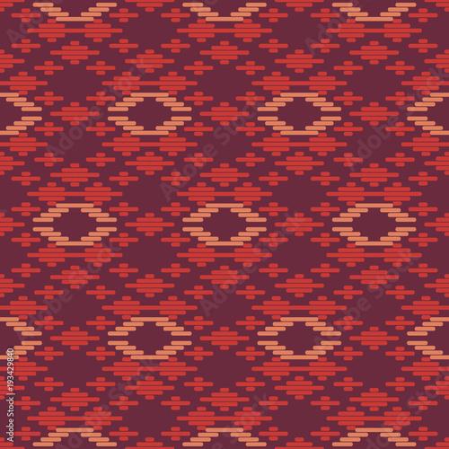 Leinwand Poster  Seamless background southeast Asian retro aboriginal traditional art textile pat