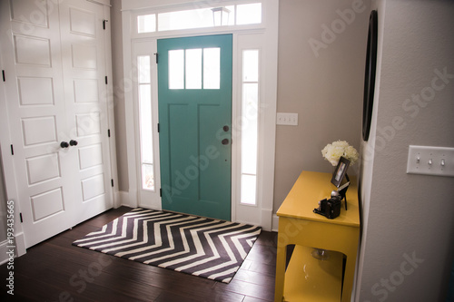 Colorful Front Entryway Canvas Print