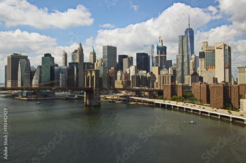 Foto op Canvas Brooklyn Bridge Brooklyn Bridge and Skyline of New York