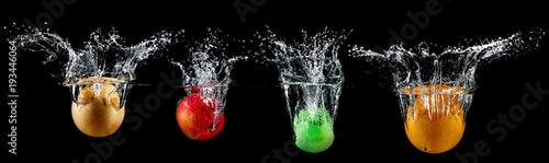 fruit in water splash - 193446064