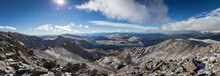 Panoramic View Taken From The Summit Of Mt Bierstadt