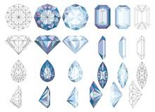 Purpule DiaPurpule Diamond Crystals Vector Clip Art Set Of 8 Gemstone Illustrationsmond Crystals Vector Clip Art Set Of 8 Gemstone Illustrations
