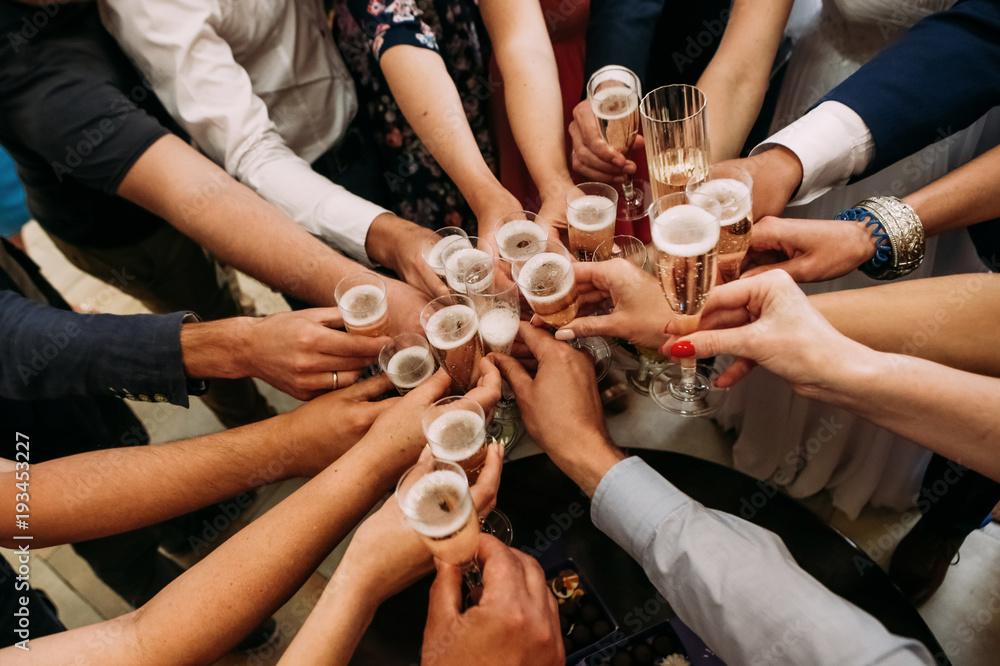 Fototapeta friends champagne celebrate party