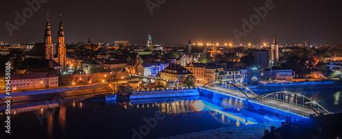 Fototapeta Miasto Opole nocą  obraz
