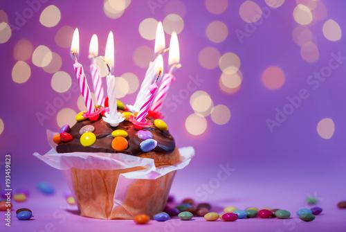 Plakat Cake - Urodziny - Rocznica - Świece