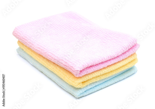 Fotografie, Obraz  colorful towels isolated on white