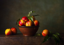 Still Life With Nectarines In ...