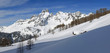 canvas print picture - Licht und Schatten auf der Sulzenalm im Winter in Filzmoos