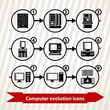 Icons With Computer Evolution....