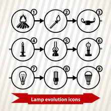 Icons With Lamp (light) Evolut...