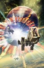 Spaceship Fighter Amd Planetary Portal