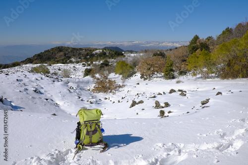 Winter Landscape In Etna Park, Sicily Tapéta, Fotótapéta