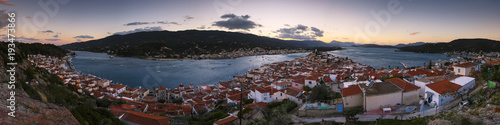 Photo View of Poros island and Galatas village in Peloponnese, Greece