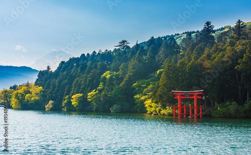 Photo  Mount Fuji from lake Ashinoko, Hakone, Japan
