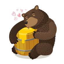 Happy Bear Hugs Wooden Barrel ...