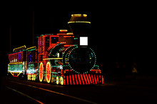 Train With Light Decorations O...