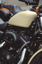 Tank And Motor Of A Classic Motorcycle, Style