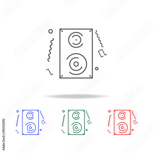 Fototapety, obrazy: Audio speaker line icon. Elements in multi colored icons for mobile concept and web apps. Icons for website design and development, app development