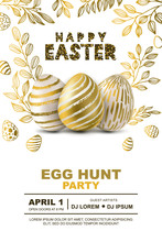 Easter Egg Hunt Party Vector P...