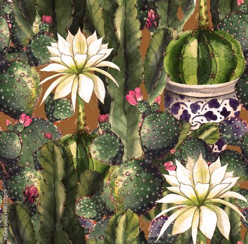 kaktus-akwarela-bezszwowe-wzor