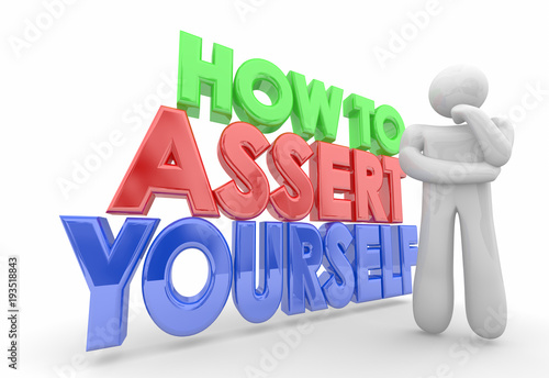 Photo How to Assert Yourself Thinker Bold Confidence 3d Illustration