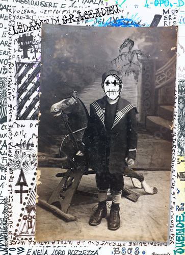 Canvas Prints Imagination Ghost and weird. Mysterious,macabre and esoteric collage series.