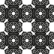 Ornamental seamless floral ethnic black and white pattern