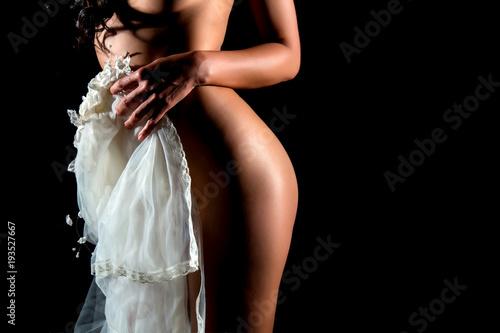 Photo  beauty nude portrait of  bride
