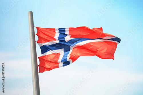 Photo  Norwegian flag