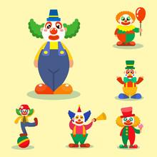 Clown Vector Circus Man Charac...