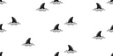 Shark Fin Seamless Pattern Dol...