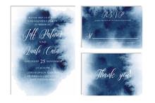 Indigo, Navy Blue Wedding Set ...