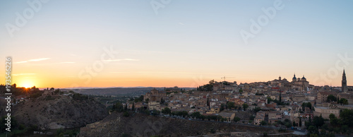 Garden Poster Napels Panoramic landscape of Toledo old town during sunset, Spain.