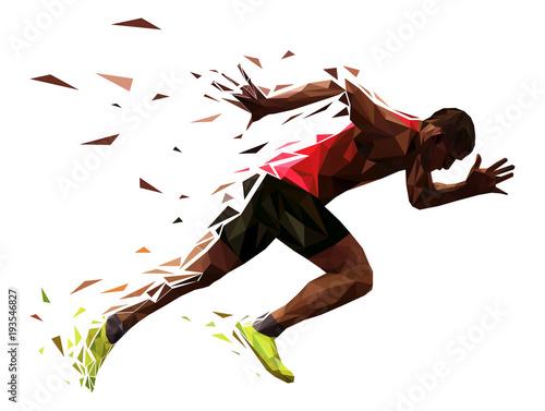 runner athlete sprint start explosive run vector illustration Wallpaper Mural