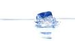 canvas print picture - Eiswürfel,eis,kalt,drink,kühlen,wasser,gefrohren,
