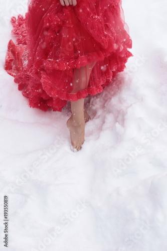 Ruffle Dress in Bare Feet
