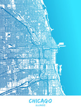 Chicago, Illinois - Map Poster...