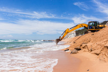 Construction Beach Ocean Erosion Repairs