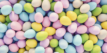 Pastel Colored Easter Eggs Bac...