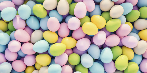 pastel colored easter eggs ...