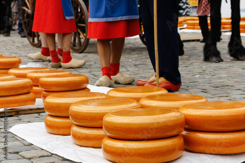 Fotografia, Obraz  Gouda, Holland old cheese market.