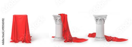 Fotografía  Set of columns covered of cloth
