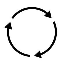 Triple Curved Recycle/refresh Icon