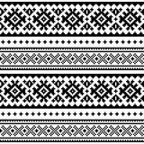 Jednolite wzór sztuki ludowej, Laponia tradycyjny design, bezszwowe tło wektor Sami Skandynawskie, nordyckie tapety - 193568213