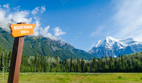 In de dag Canada Mount Robson-Canada